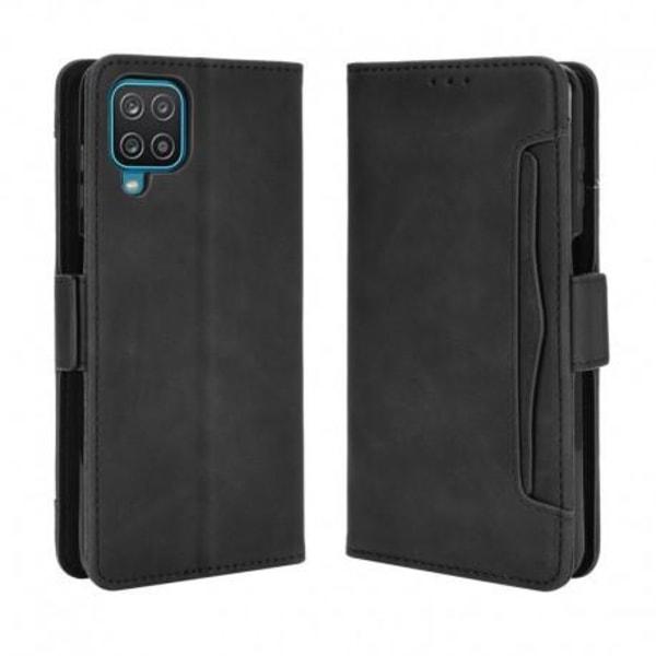 Samsung A12 Plånboksfodral PU-Läder 6-FACK Winston® V3 Svart