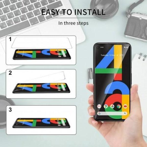 2-PACK Google Pixel 4a 4G/LTE Härdat glas 0.26mm 2.5D 9H Transparent