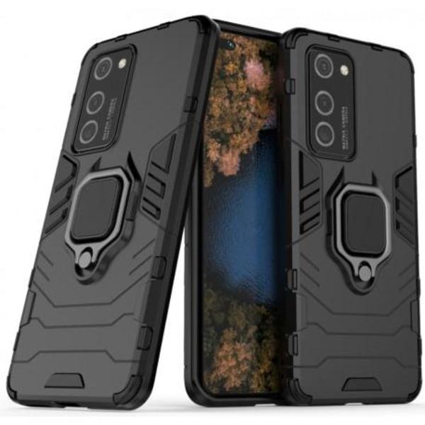 Huawei P40 Pro Stöttåligt Skal med Ringhållare ThinArmor® Svart