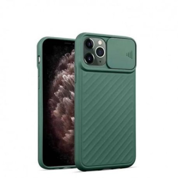 iPhone 11 Stöttåligt Skal Inbyggd Kamerskydd CamShield Svart