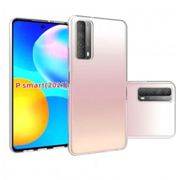 Huawei P Smart 2021 Stötdämpande Silikon Skal Simple® Transparent