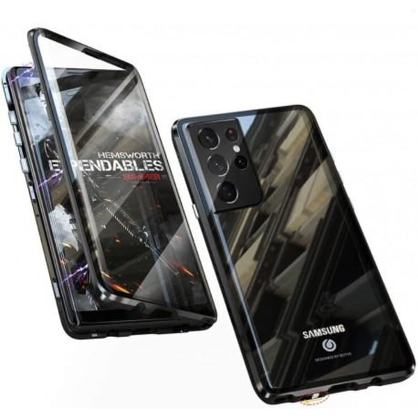Samsung S21 Plus Heltäckande Premium Skal Glassback® V4 Svart