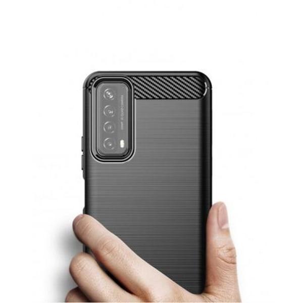 Huawei P Smart 2021 Stöttåligt Skal SlimCarbon® Svart