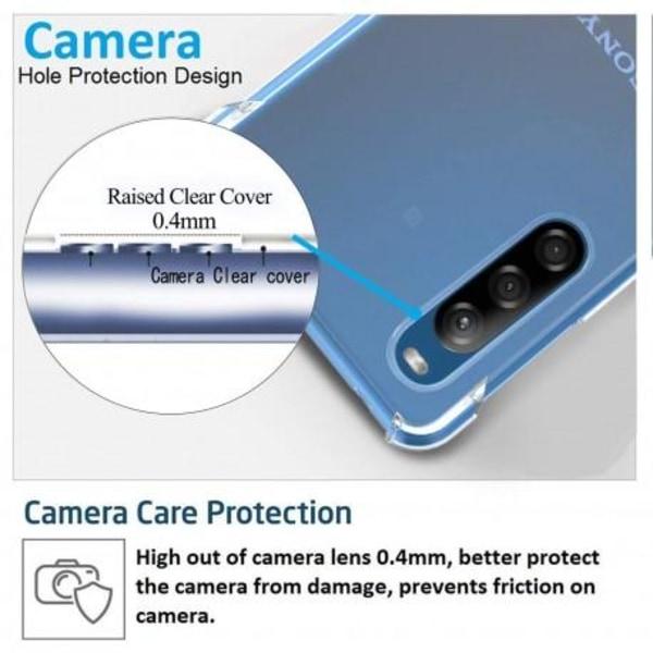 Xperia L4 Stötdämpande Silikon Skal Shockr® Transparent