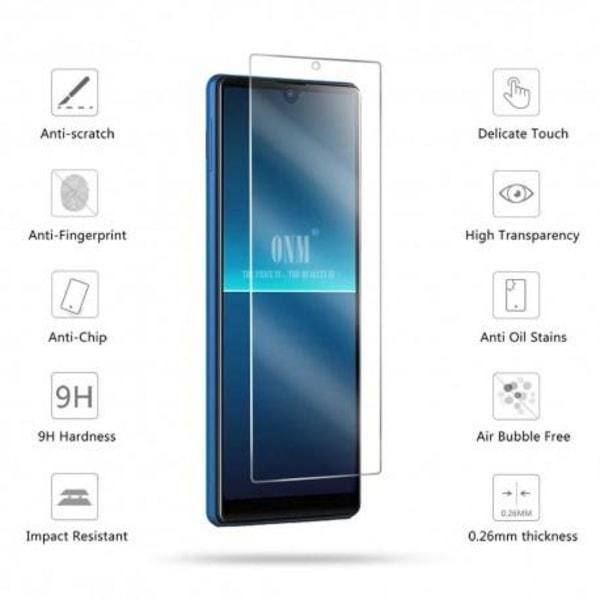 2-PACK Sony Xperia L4 Härdat glas 0.26mm 2.5D 9H Transparent