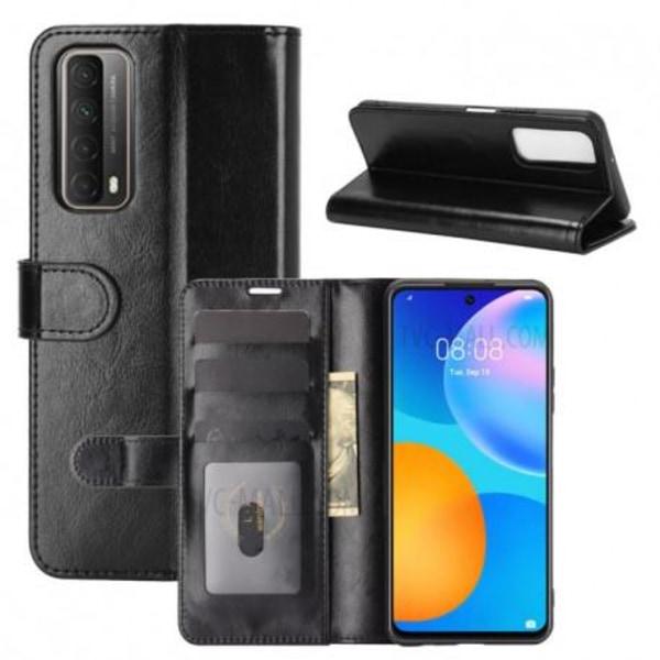 Huawei P Smart 2021 Plånboksfodral PU-Läder 4-FACK Evry® Svart
