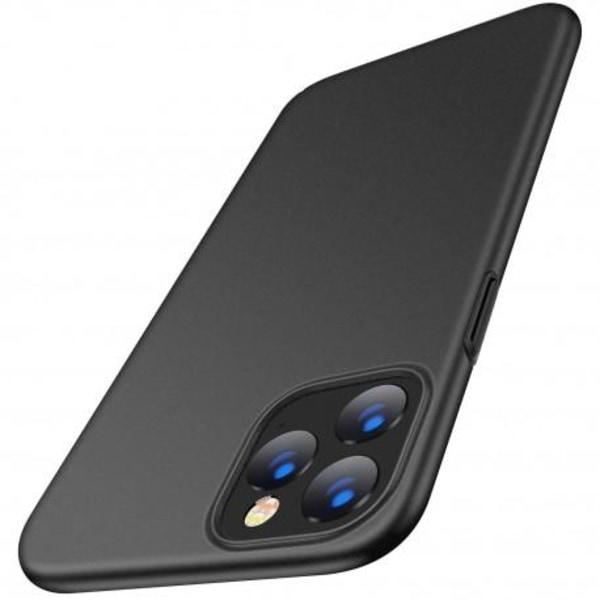 iPhone 11 Pro Ultratunn Gummibelagd Mattsvart Skal Basic® V2 Svart