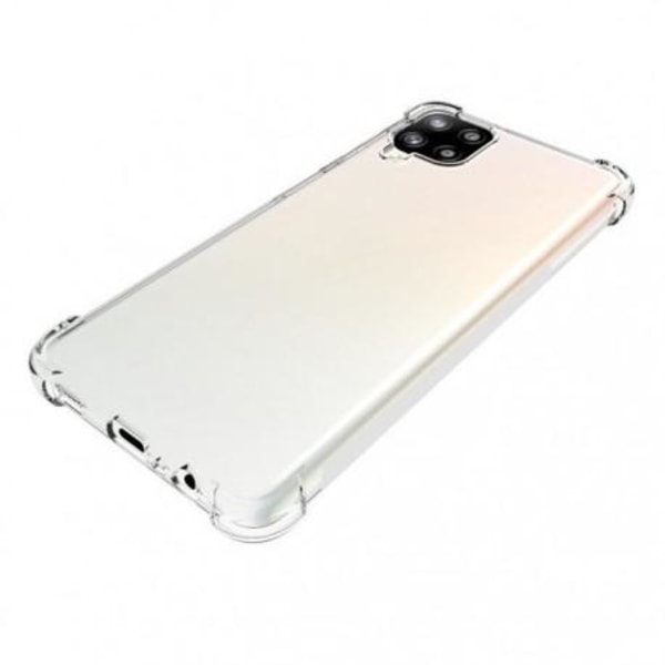 Samsung A12 Stötdämpande Silikon Skal Shockr® Transparent