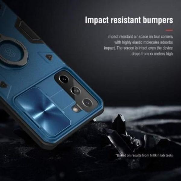 Samsung S21 Plus Stöttåligt Skal med Ringhållare Nillkin Svart Svart