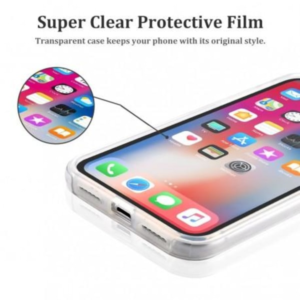 360° Heltäckande & Stötdämpande Skal iPhone 8 Plus Transparent