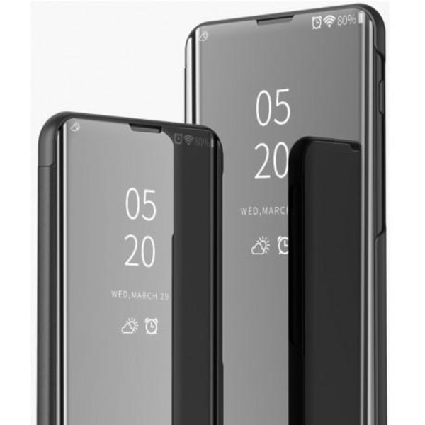Huawei P Smart 2021 Smart Flipfodral Clear View Standing V2 Rock Svart