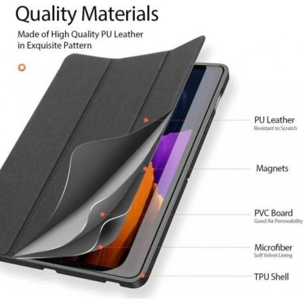 Samsung Tab S7 Plus 12.4 Fodral Dux Ducis Domo Svart Svart