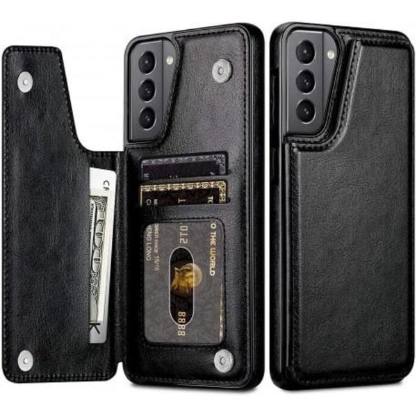 Samsung S21 Plus Stöttåligt Skal Korthållare 3-FACK Flippr® Svart