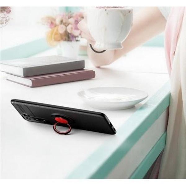 Samsung S21 Plus Praktisk Stöttåligt Skal med Ringhållare V3 Svart