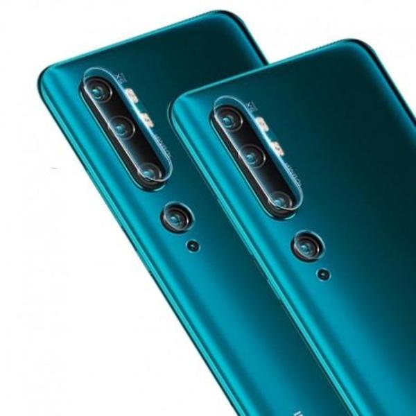 Xiaomi Mi Note 10 / 10 Pro Kamera Skydd Linskydd Flexibelt Glas Svart