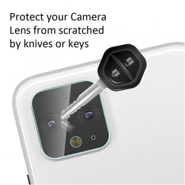 2-PACK Google Pixel 4a 4G/LTE Kamera Skydd Linsskydd Transparent
