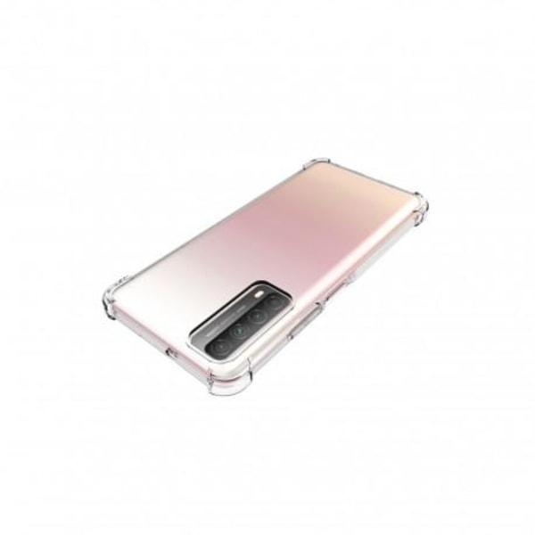 Huawei P Smart 2021 Stötdämpande Silikon Skal Shockr® Transparent