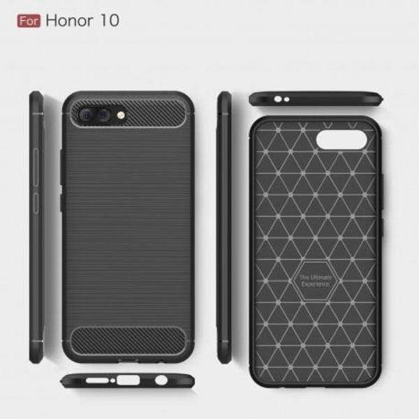 Huawei Honor 10 Stöttåligt Stötdämpande Skal SlimCarbon® Svart