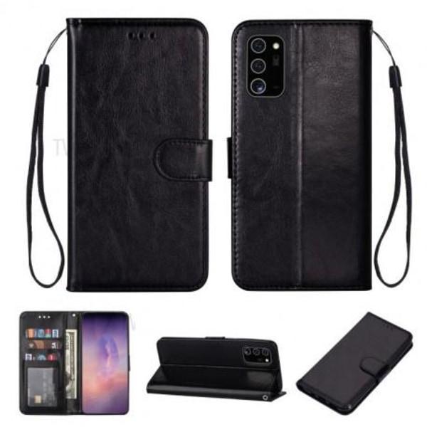 Samsung Note 20 Plånboksfodral PU-Läder 4-FACK Evry® Svart