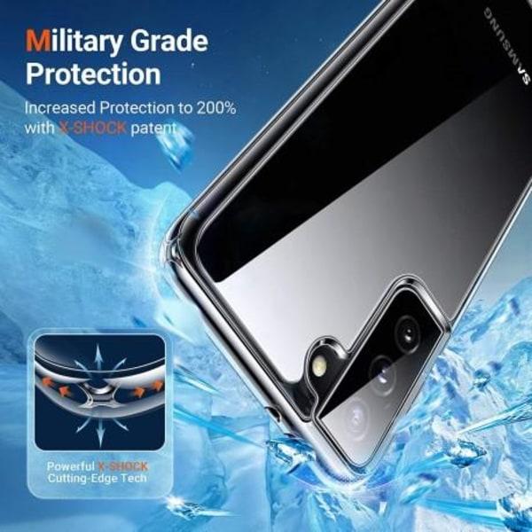 Samsung S21 Plus Stötdämpande Silikon Skal Simple® Transparent
