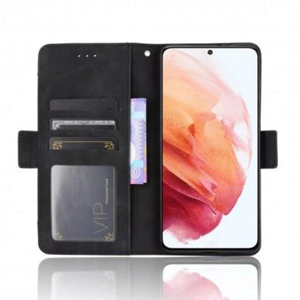 Samsung S21 Plus Plånboksfodral PU-Läder 6-FACK Winston® V3 Svart