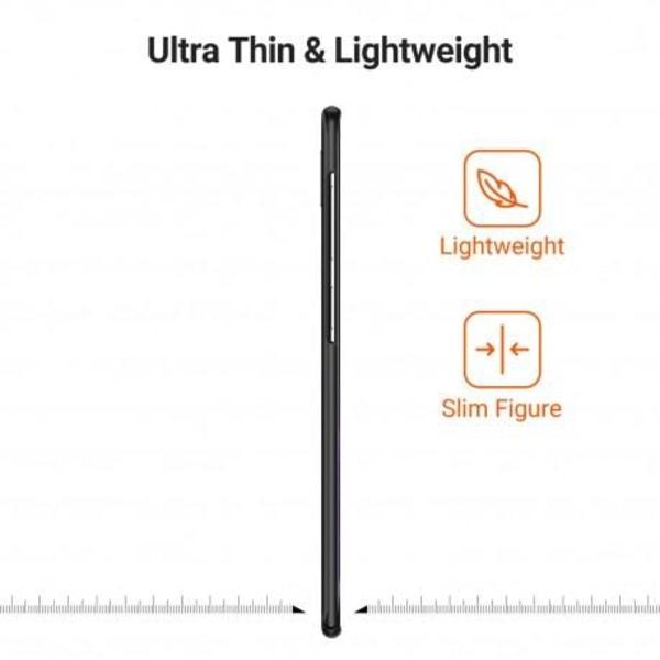 Samsung S10 Plus Ultratunn Gummibelagd Mattsvart Skal Basic® V2 Svart