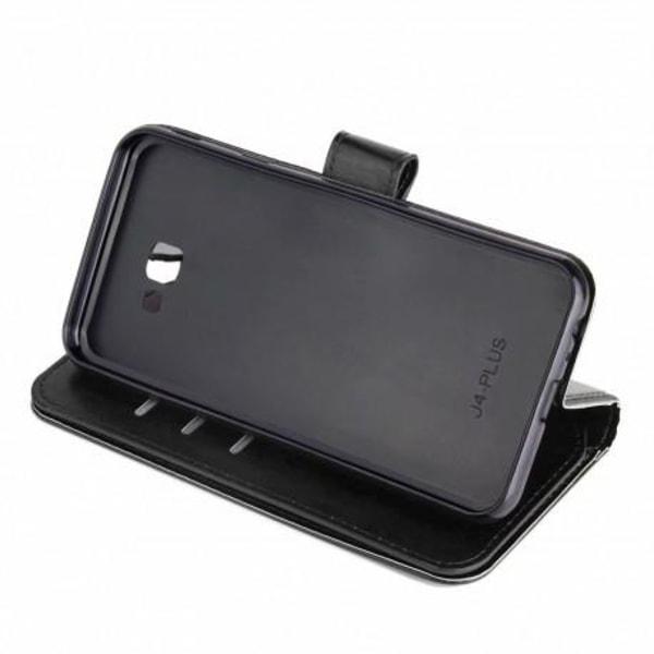 Samsung J4 Plus 2018 Praktisk Plånboksfodral med 10-Fack Array® Svart