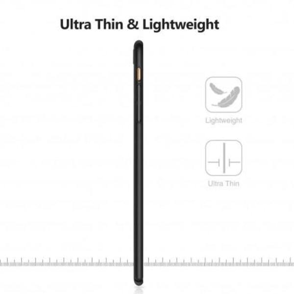iPhone 8 Plus Ultratunn Gummibelagd Mattsvart Skal Basic® V2 Svart