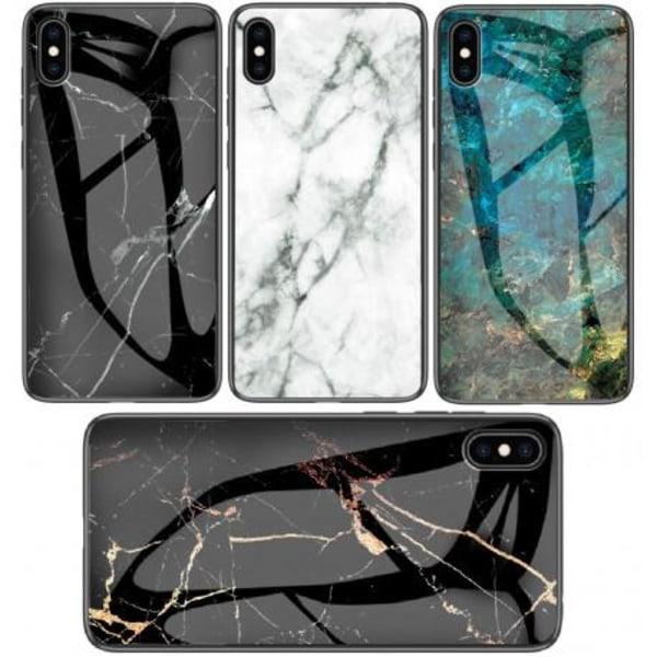 iPhone XS Max Marmorskal 9H Härdat Glas Baksida Glassback® V2 Black Variant 4