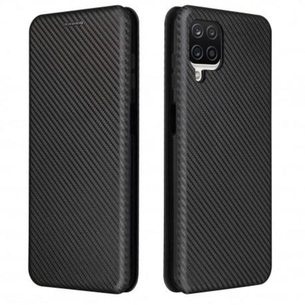Samsung A12 Flipfodral Kortfack CarbonDreams® Svart