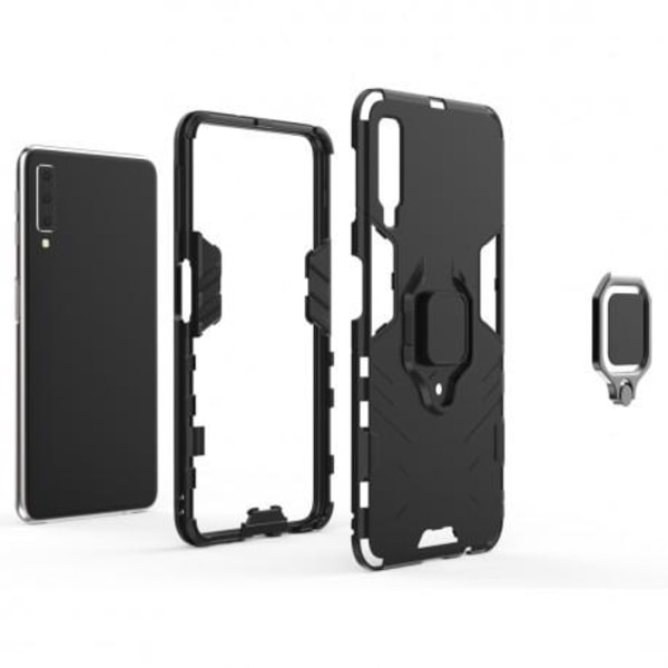 Samsung A50 Stöttåligt Skal med Ringhållare ThinArmor® (SM-A505F Svart