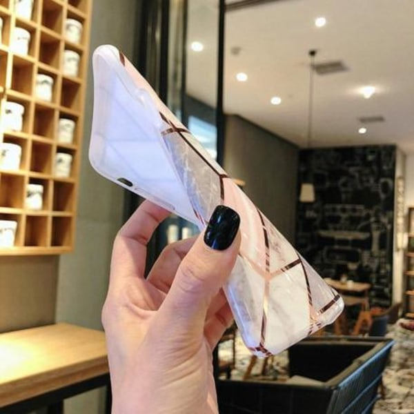 Samsung A51 Stilrent Marmorskal Premium Rosa
