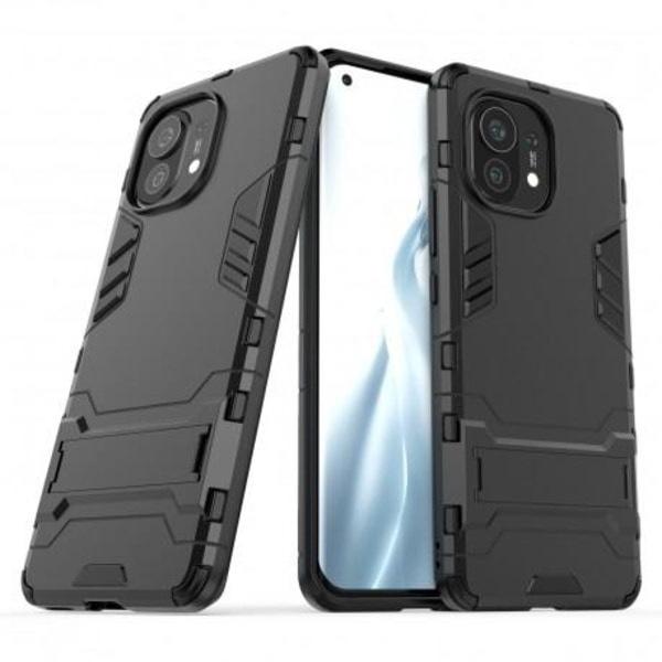 Xiaomi Mi 11 Stöttåligt Skal med Kickstand ThinArmor® Svart