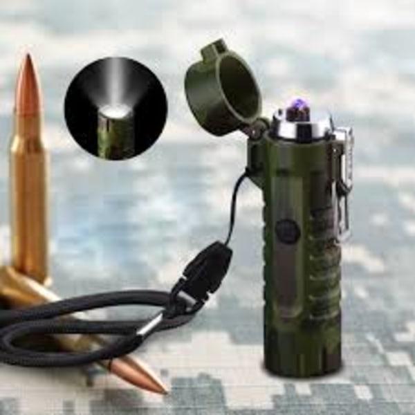 Stormsäker , Vattentät ARC Tändare med LED lampa  (laddbar)