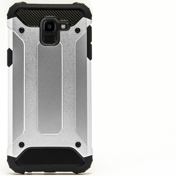 Hybrid Mobil Skal till Samsung Galaxy J6 (2018)   Silver   TPU o Silver