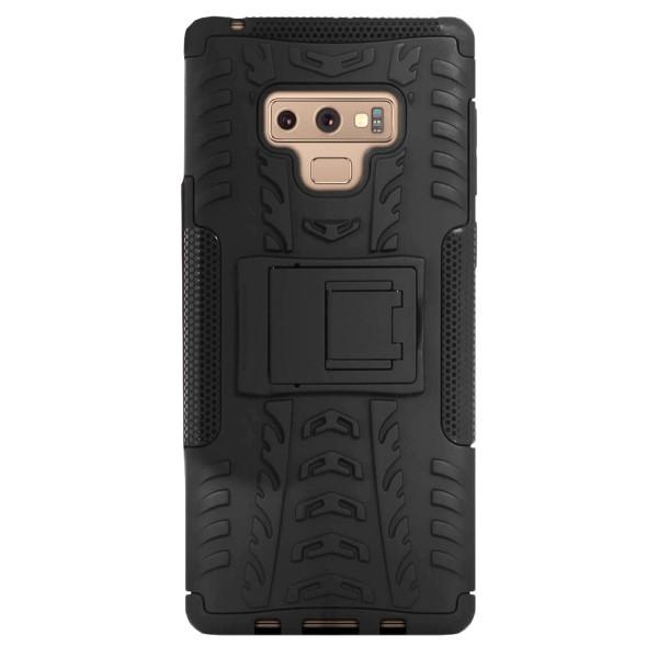 2 Styckeväska med Kickstand för Samsung Galaxy Note 9 Hårt Outdo Svart