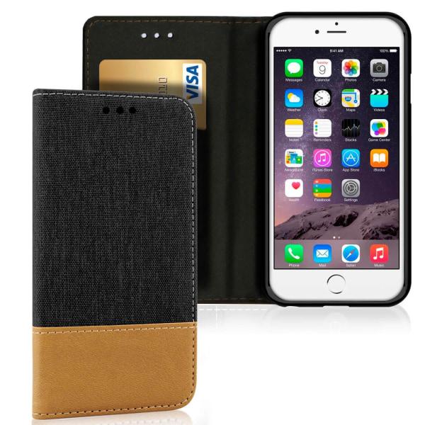 Plånboks Fodral Skal för Apple iPhone 6 / 6s TPU Mobilskydd Kort Svart