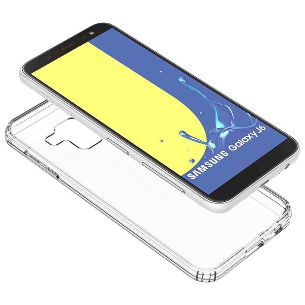 Enfärgat Transparent Mjukt Skal för Samsung Galaxy J6 (2018) Kla Transparent