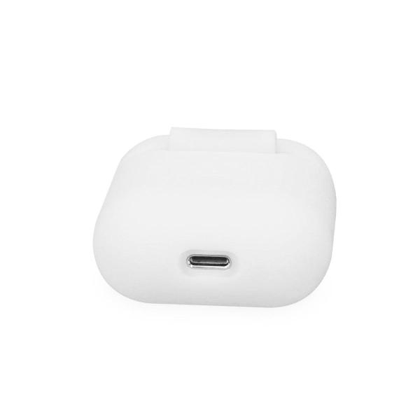 Enfärgat Mjukt Skal för Apple Airpods Mobilskal Gummi Tunnt Mobi Vit