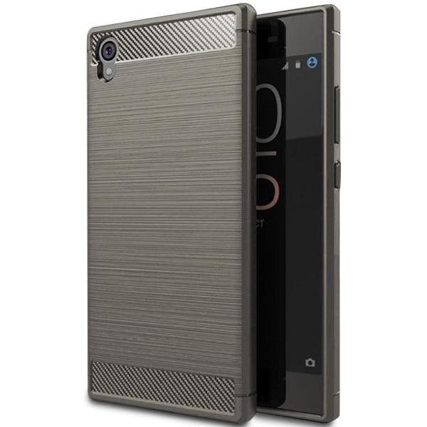 Mjukt Gummi Skal för Sony Xperia L1 Matt Mobilskydd Kolfiber Sky grå