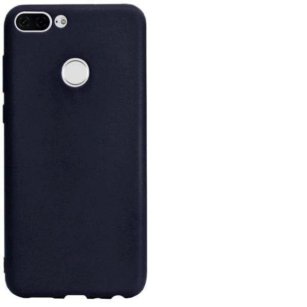 Mjukt Mobil-Skydd för Huawei Honor 9 Lite Enfärgat Telefon Marin Mörkblå