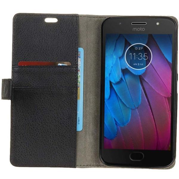 Mobilplånbok 2-kort Motorola Moto G5s (XT1794) Svart