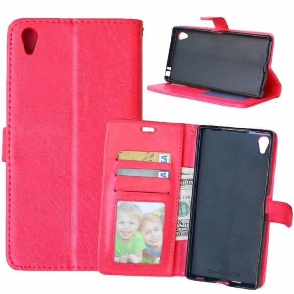 Mobilplånbok 3-kort Sony Xperia Z5 Premium (E6853) Röd