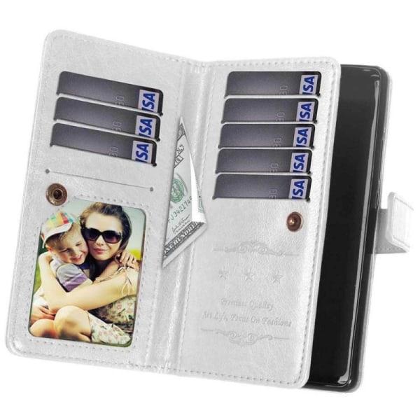 Dubbelflip Flexi 9-kort Samsung Galaxy J4 Plus (SM-J415F) Vit