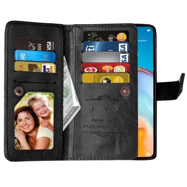 Dubbelflip Flexi 9-kort Huawei P40 Pro (ELS-AN00) Svart