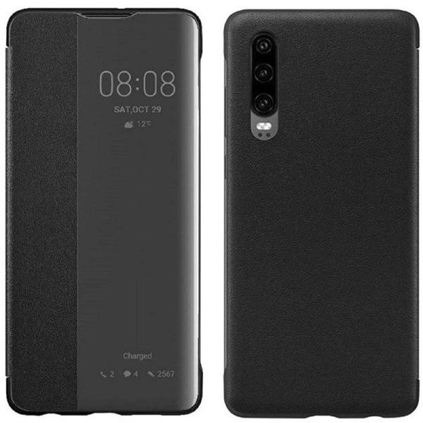 Smart View Flipfodral Huawei P30 (ELE-L29) - Svart