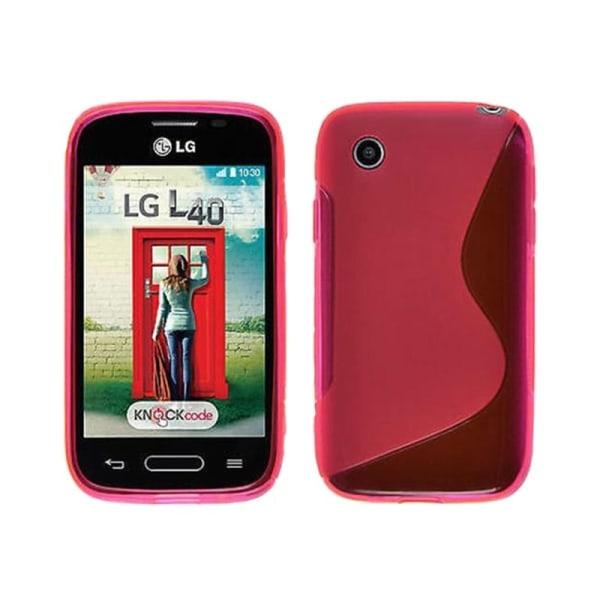 S Line silikon skal LG L40 (D170) Rosa