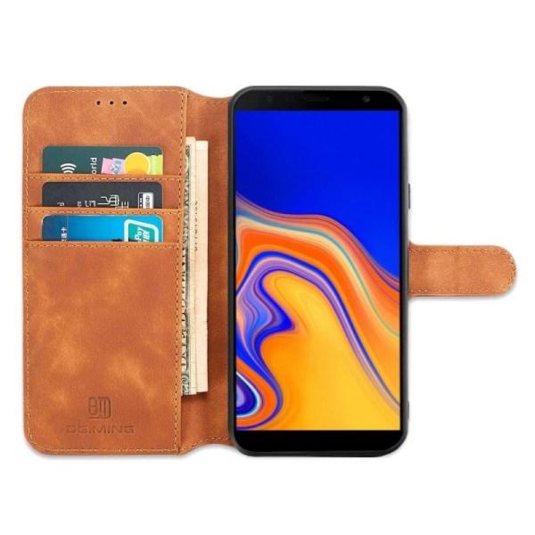 DG-Ming mobilplånbok 3-kort Samsung Galaxy J4 Plus (SM-J415F) Brun