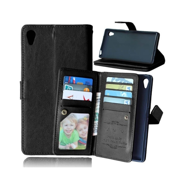 Dubbelflip Flexi 9-kort Sony Xperia Z5 Premium (E6853) Svart