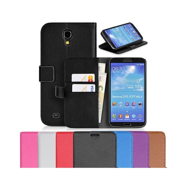 Mobilplånbok 2-kort Samsung Galaxy Mega 6,3 (GT-i9200) Svart